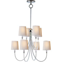 Visual Comfort Thomas OBrien Reed 8 Light Chandelier in Polished Silver TOB5010PS-NP
