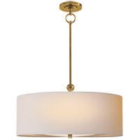 Thomas O'Brien Reed 2 Light 22 inch Hand-Rubbed Antique Brass Hanging Shade Ceiling Light in Natural Paper
