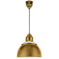 Visual Comfort TOB5012HAB Thomas OBrien Eugene 1 Light 12 inch Hand-Rubbed Antique Brass Pendant Ceiling Light