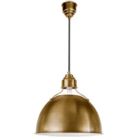 Visual Comfort Thomas OBrien Eugene 1 Light Pendant in Hand-Rubbed Antique Brass TOB5013HAB