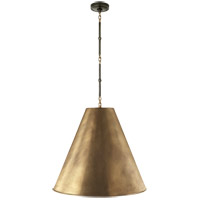 Visual Comfort TOB5014BZ/HAB-HAB Thomas Obrien Goodman 2 Light 25 inch Bronze with Antique Brass Accents Hanging Shade Ceiling Light