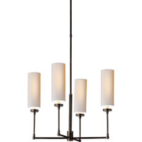 Visual Comfort Thomas OBrien Ziyi 4 Light Chandelier in Bronze with Wax TOB5015BZ-NP