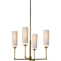 Visual Comfort Thomas OBrien Ziyi 4 Light Chandelier in Hand-Rubbed Antique Brass TOB5015HAB-NP