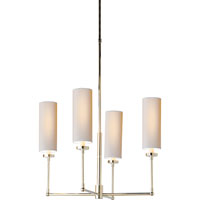 Visual Comfort Thomas OBrien Ziyi 4 Light Chandelier in Polished Silver TOB5015PS-NP