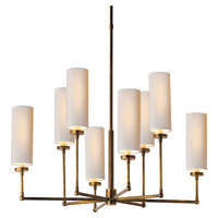 Visual Comfort Thomas OBrien Ziyi 8 Light Chandelier in Hand-Rubbed Antique Brass TOB5016HAB-NP