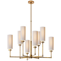 Visual Comfort TOB5016HAB-NP Thomas O'Brien Ziyi 8 Light 34 inch Hand-Rubbed Antique Brass Chandelier Ceiling Light