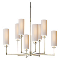 Visual Comfort Thomas OBrien Ziyi 8 Light Chandelier in Polished Nickel TOB5016PN-NP
