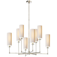 Thomas OBrien Ziyi 8 Light 34 inch Polished Nickel Chandelier Ceiling Light