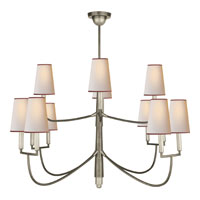 Visual Comfort Thomas OBrien Farlane 12 Light Chandelier in Antique Nickel TOB5017AN-NP/RT