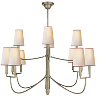 Visual Comfort TOB5017AN-NP/RT Thomas O'Brien Farlane 12 Light 48 inch Antique Nickel Chandelier Ceiling Light