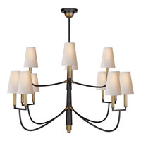 Visual Comfort Thomas OBrien Farlane 12 Light Chandelier in Bronze with Antique Brass Accents TOB5017BZ/HAB-NP