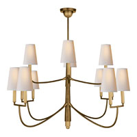 Visual Comfort TOB5017HAB-NP Thomas OBrien Farlane 12 Light 48 inch Hand-Rubbed Antique Brass Chandelier Ceiling Light in (None)