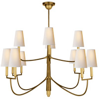 Visual Comfort TOB5017HAB-NP Thomas O'Brien Farlane 12 Light 48 inch Hand-Rubbed Antique Brass Chandelier Ceiling Light