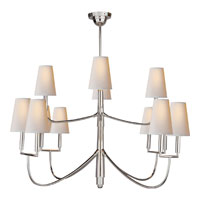 Visual Comfort Thomas OBrien Farlane 12 Light Chandelier in Polished Silver TOB5017PS-NP