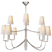Visual Comfort TOB5017PS-NP Thomas OBrien Farlane 12 Light 48 inch Polished Silver Chandelier Ceiling Light in (None)