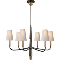 Visual Comfort Thomas OBrien Farlane 6 Light Chandelier in Bronze with Antique Brass Accents TOB5018BZ/HAB-NP