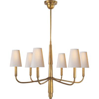 Visual Comfort Thomas OBrien Farlane 6 Light Chandelier in Hand-Rubbed Antique Brass TOB5018HAB-NP