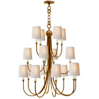 Thomas OBrien Reed 16 Light 33 inch Hand-Rubbed Antique Brass Chandelier Ceiling Light