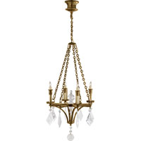 Visual Comfort Thomas OBrien Verona 4 Light Chandelier in Hand-Rubbed Antique Brass TOB5021HAB-CGQ