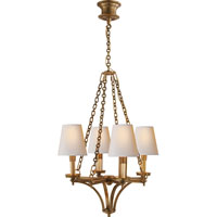 Visual Comfort Thomas OBrien Verona 4 Light Chandelier in Hand-Rubbed Antique Brass TOB5021HAB-NP
