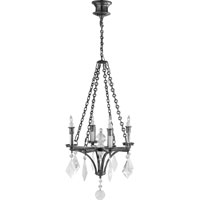 Visual Comfort Thomas OBrien Verona 4 Light Chandelier in Polished Nickel TOB5021PN-CGQ