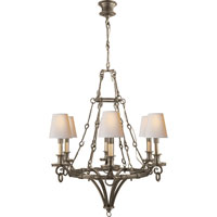 Visual Comfort Thomas OBrien Verona 6 Light Chandelier in Sheffield Nickel TOB5022SN-NP