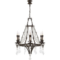 Visual Comfort Thomas OBrien Verona 6 Light Chandelier in Weathered Iron TOB5022WI-CGQ