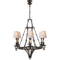 Visual Comfort Thomas OBrien Verona 6 Light Chandelier in Weathered Iron TOB5022WI-NP