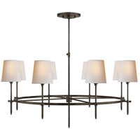 Visual Comfort TOB5024BZ-NP Thomas Obrien Bryant 8 Light 42 inch Bronze Chandelier Ceiling Light, Large Ring