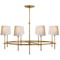 Thomas OBrien Bryant 8 Light 35 inch Hand-Rubbed Antique Brass Chandelier Ceiling Light, Large Ring