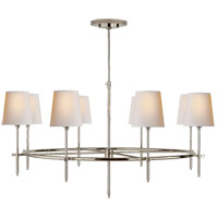 Visual Comfort TOB5024PN-NP Thomas Obrien Bryant 8 Light 42 inch Polished Nickel Chandelier Ceiling Light, Large Ring