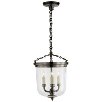 Visual Comfort Thomas OBrien Merchant 3 Light Pendant in Bronze with Wax TOB5030BZ