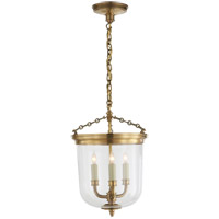 Thomas O'Brien Merchant 3 Light 12 inch Hand-Rubbed Antique Brass Pendant Ceiling Light