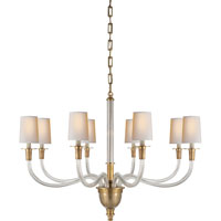 Visual Comfort Thomas OBrien Vivian 8 Light Chandelier in Hand-Rubbed Antique Brass TOB5032HAB-NP