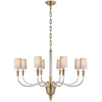 Thomas OBrien Vivian 8 Light 36 inch Hand-Rubbed Antique Brass Chandelier Ceiling Light