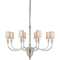 Visual Comfort Thomas OBrien Vivian 8 Light Chandelier in Polished Nickel TOB5032PN-NP