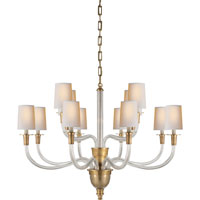 Visual Comfort Thomas OBrien Vivian 12 Light Chandelier in Hand-Rubbed Antique Brass TOB5033HAB-NP