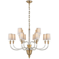 Visual Comfort TOB5033HAB-NP Thomas O'Brien Vivian 12 Light 36 inch Hand-Rubbed Antique Brass Chandelier Ceiling Light photo thumbnail
