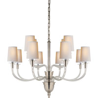 Visual Comfort Thomas OBrien Vivian 12 Light Chandelier in Polished Nickel TOB5033PN-NP