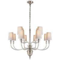 Visual Comfort TOB5033PN-NP Thomas O'Brien Vivian 12 Light 36 inch Polished Nickel Chandelier Ceiling Light