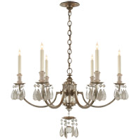Visual Comfort TOB5036BSL Thomas Obrien Elizabeth 6 Light 33 inch Burnished Silver Leaf Chandelier Ceiling Light