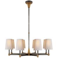 Visual Comfort TOB5046BZ/HAB-NP Thomas OBrien Caron 8 Light 30 inch Bronze with Antique Brass Chandelier Ceiling Light