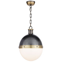 Visual Comfort TOB5063BZ/HAB-WG Thomas OBrien Hicks 2 Light 13 inch Bronze with Antique Brass Accents Pendant Ceiling Light