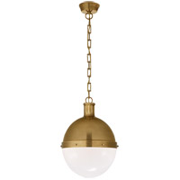 Visual Comfort TOB5063HAB-WG Thomas O'Brien Hicks 2 Light 13 inch Hand-Rubbed Antique Brass Pendant Ceiling Light