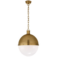 Visual Comfort TOB5064HAB-WG Thomas O'Brien Hicks 2 Light 16 inch Hand-Rubbed Antique Brass Pendant Ceiling Light