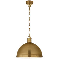 Visual Comfort TOB5071HAB Thomas O'Brien Hicks 2 Light 16 inch Hand-Rubbed Antique Brass Pendant Ceiling Light, Extra Large photo thumbnail