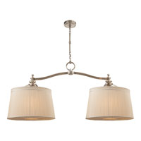Visual Comfort Thomas OBrien DArcy 6 Light Linear Pendant in Antique Nickel TOB5081AN-S