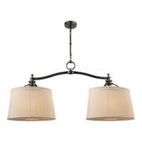 Thomas OBrien DArcy 6 Light 48 inch Bronze Linear Pendant Ceiling Light