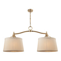 Visual Comfort Thomas OBrien DArcy 6 Light Linear Pendant in Hand-Rubbed Antique Brass TOB5081HAB-S