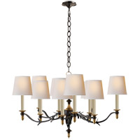Thomas OBrien Chandler 10 Light 37 inch Blackened Rust with Antique Brass Chandelier Ceiling Light